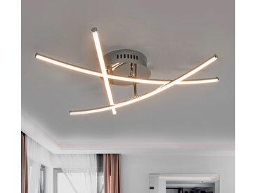 Beau plafonnier LED à barres croisées Yael