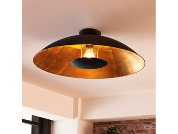 Plafonnier LED noir doré Emilienne
