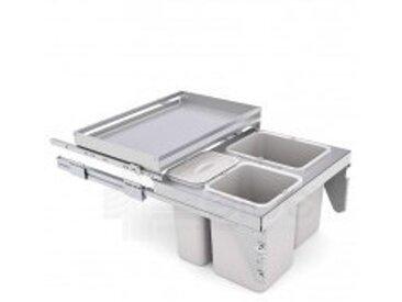 Poubelle coulissante 3 bacs + étagère coulissante pour meuble 600 - SIGE SPA - 575+