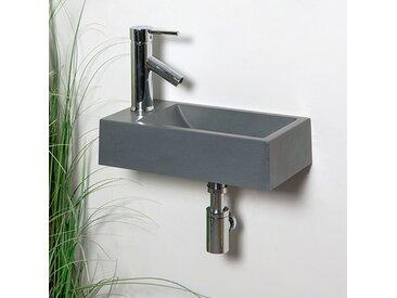 Lave-mains suspendu Gris 40 cm en Pierre de synthèse - Telma G