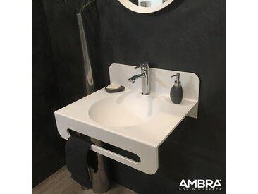 Vasque à suspendre en solid surface 60 cm - Milano