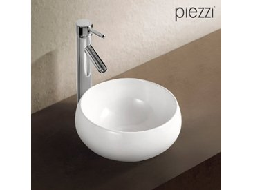 Vasque ronde en céramique blanche 32 cm- Boréal