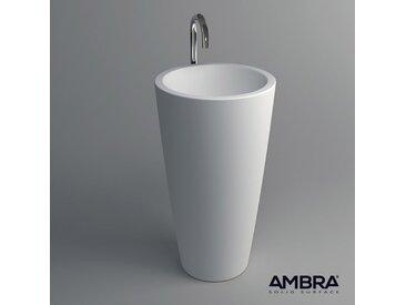 Vasque colonne sur pied,en Solid surface - Kezia