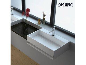 Vasque suspendue 60 cm,  en Solid surface - Célia