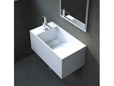 Lave-mains suspendu en Solid surface 50 cm - Rhéa G