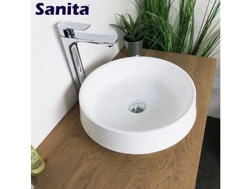 Vasque à poser 42 cm en Pierre de synthèse - Dakota