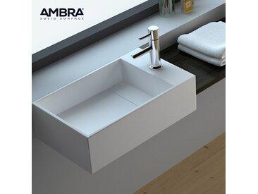 Vasque suspendue ou à poser, 50 cm en Solid surface - Manéa D