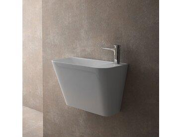 Vasque suspendue rectangulaire 50 cm en céramique - Prima