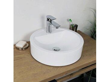 Vasque à poser 43 cm en Pierre de synthèse finition mat - Elma