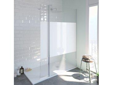 Paroi de douche fixe SINGLE sérigraphié 90x200 cm en verre 8 mm