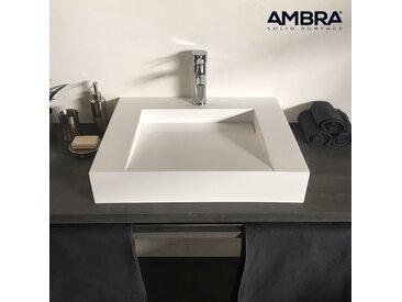Vasque 60 cm à poser en solid surface - Soko