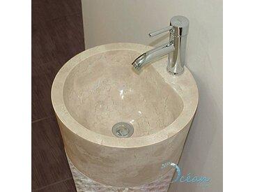 Vasque sur pied en marbre crème, totem - Nago