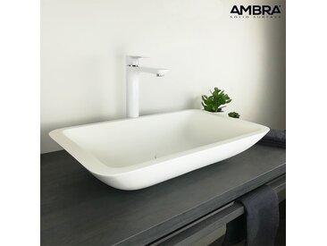 Vasque à poser 60 cm rectangulaire en Solid surface  - KAZAO
