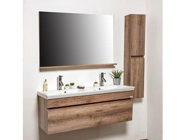 Ensemble meuble de salle de bains rustique 4 pièces 120 cm - Rustic