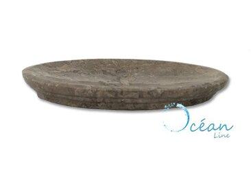 Porte-savon oval en Marbre gris