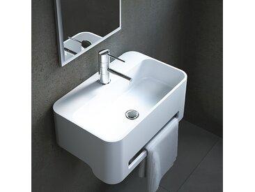 Lave-mains rectangulaire à poser en Solid surface 50 cm - Flavio