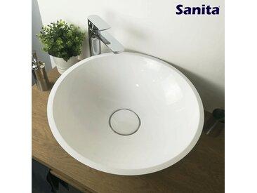 Vasque à poser 50 cm en Pierre de synthèse - Cassandra