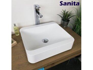 Vasque à poser 45 cm en Pierre de synthèse - Hanaé
