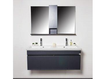 Ensemble meubles salle de bains Gris 3 pièces 120 cm - Grayed