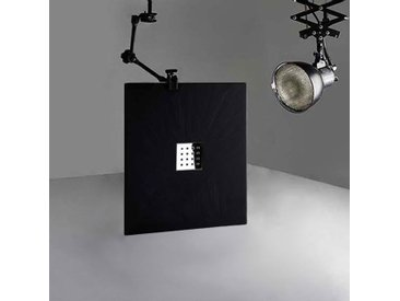 Receveur en gel coat PIZARRA Noir 100 x 80 cm