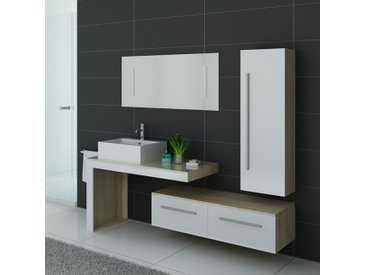 Meubles salle de bain DIS9250SC-B Scandinave et blanc
