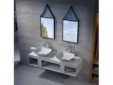 Plan de toilette avec vasque en solid surface SDK53 + SDV13