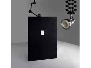 Receveur en gel coat PIZARRA Noir 140 x 90 cm