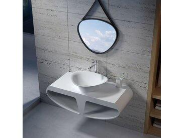 Plan de toilette avec vasque triangle en solid surface SDK51 + SDV34