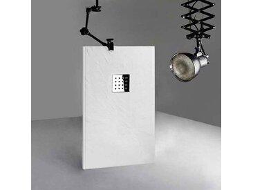 Receveur 140x80 cm, receveur de douche rectangulaire en gel coat, receveur 140x80 PIZARRA Blanc