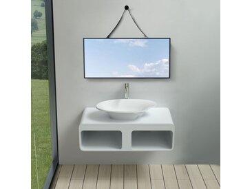 Plan de toilette avec vasque palette en solid surface SDK52 + vasque V45-N