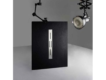 Receveur en gel coat ARDESIA Noir 120x90 cm