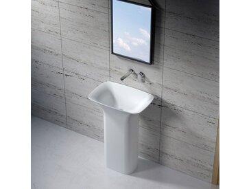 Vasque totem rectangulaire sur pied en solid surface Réf : SDV26