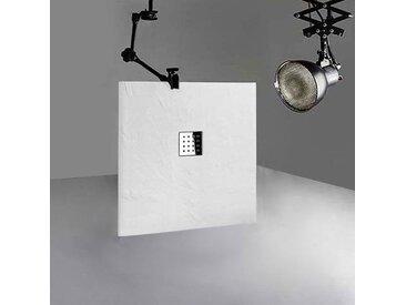 Receveur en gel coat PIZARRA Blanc 100x90 cm