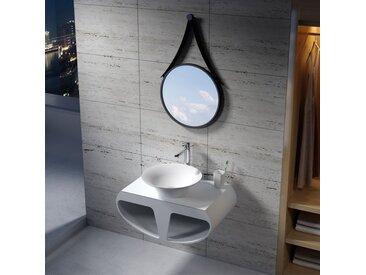 Plan de toilette avec vasque ronde en solid surface SDK55 + SDV32