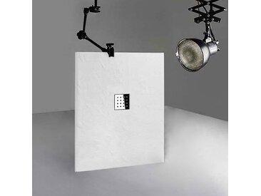 Receveur en gel coat PIZARRA Blanc 120x90 cm