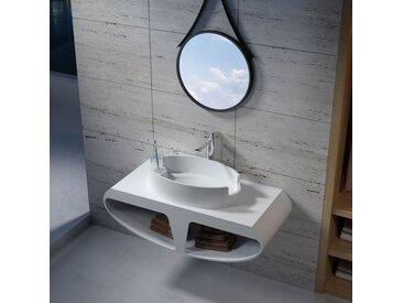 Plan de toilette en demi-lune avec vasque ovale design SDK51 + SDV70