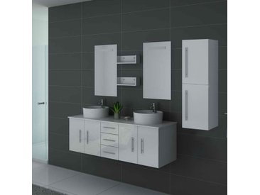 Meubles salle de bain DIS747B blanc