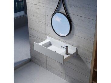 Vasque suspendue en solid surface SDV67R version droite