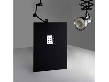 Receveur en gel coat PIZARRA Noir 120 x 80 cm