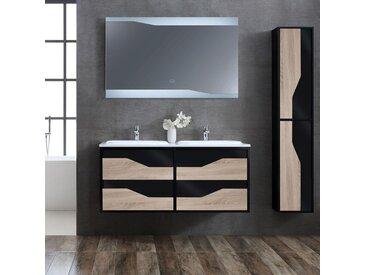 Meuble salle de bain URBINO 1200 Scandinave et Noir