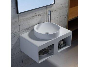 Plan de toilette avec vasque ronde en solid surface SDK56 + vasque V40