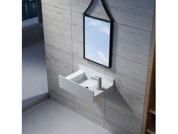 Vasque suspendue en solid surface SDV68R version Droite