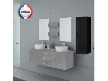 Meuble colonne COL747N salle de bain noir