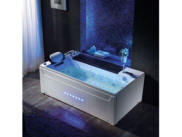 Baignoire balnéo rectangulaire Monté-Cristo whirlpool 40 jets + massage des cervicales