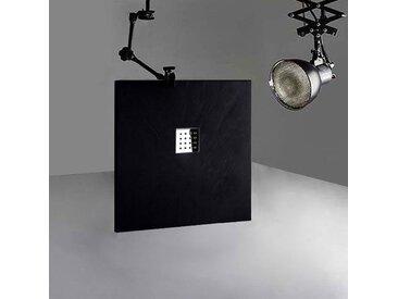 Receveur en gel coat PIZARRA Noir 100 x 90 cm