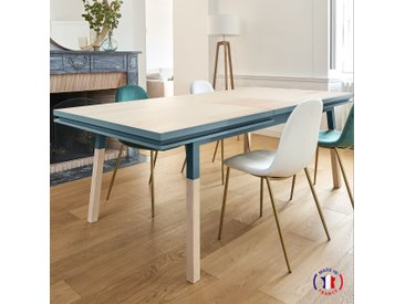 Table repas rectangulaire en bois massif fabrication française