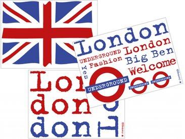 Stickers London 3 planches - chambrekids.com