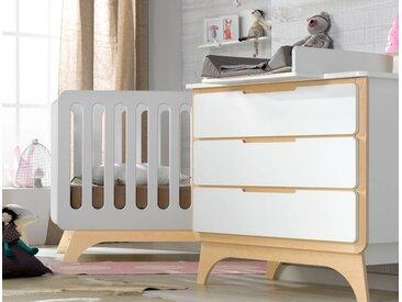 Petite chambre bébé Bonheur Blanc & Bouleau - chambrekids.com