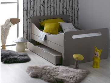 Lit enfant évolutif Féroé Lin avec tiroir & matelas - chambrekids.com