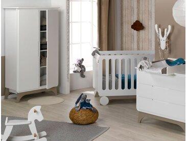 Chambre bébé complète Bonheur Blanc & Lin - chambrekids.com